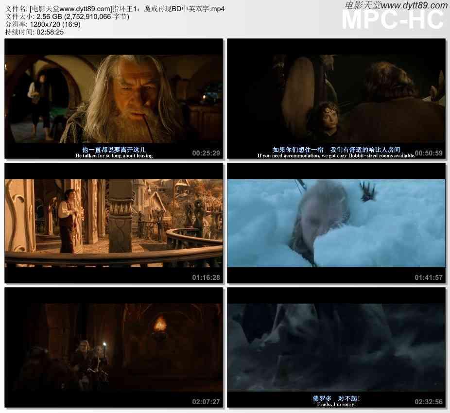 2001年欧美经典动作奇幻片《指环王1:魔戒再现》BD双语双字