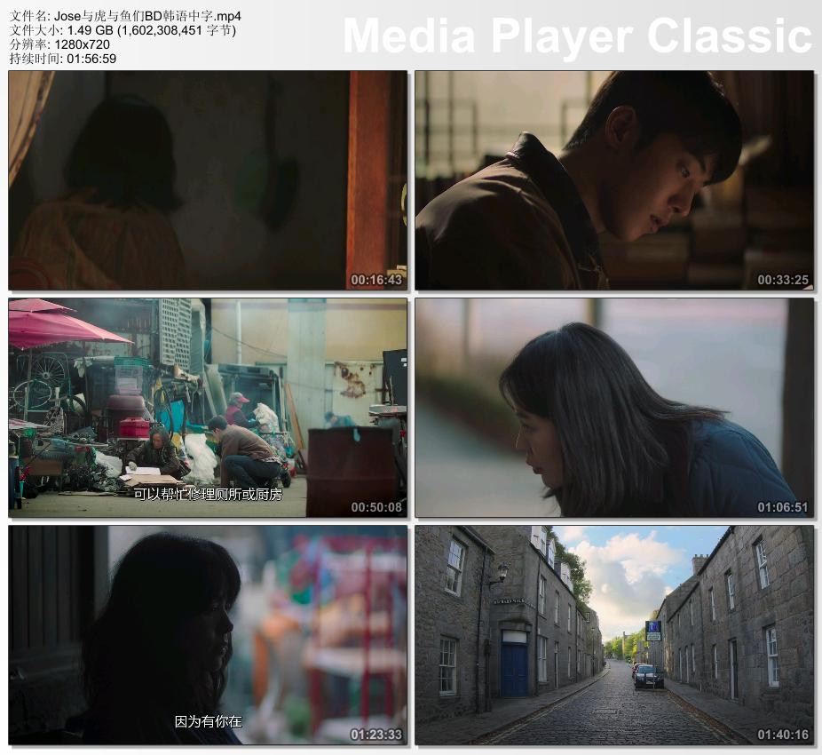 2020年韩国6.5分爱情片《Jose与虎与鱼们》BD韩语中字